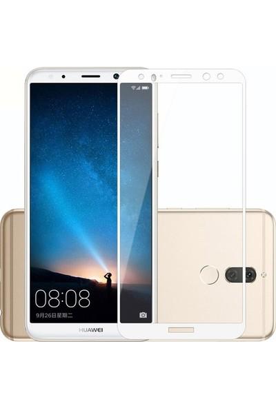 Jopus Huawei Mate 10 Lite 5D Nano Tam Kaplayan Ekran Koruyucu - Beyaz