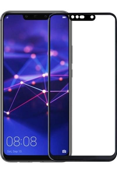 Jopus Huawei Mate 10 Lite 5D Nano Tam Kaplayan Ekran Koruyucu - Siyah + Şeffaf Silikon Kılıf
