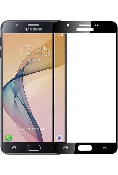 Jopus Samsung Galax J7 Prime 5D Nano Tam Kaplayan Ekran Koruyucu - Siyah + Şeffaf Silikon Kılıf