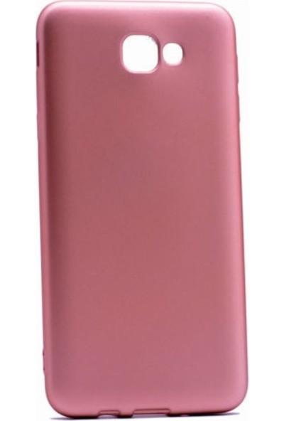 Jopus Samsung Galaxy J7 Prime 2 Mat Premium Silikon Kılıf - Rose + 5D Nano Ekran Koruyucu Gold