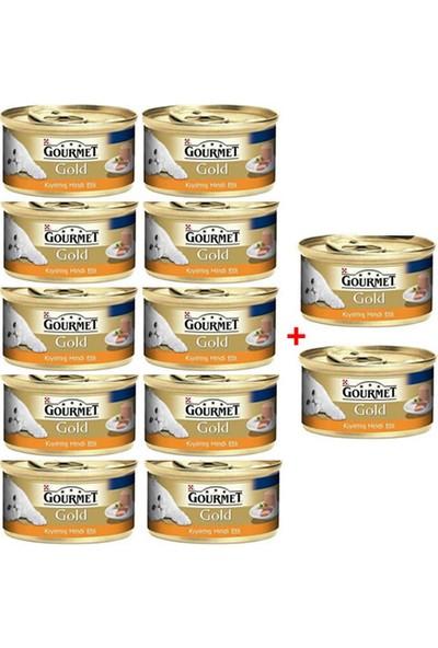 Purina Gourmet Gold Kıyılmış Hindi Etli Yaş Kedi Maması 85 gr (12 Al 10 Öde)