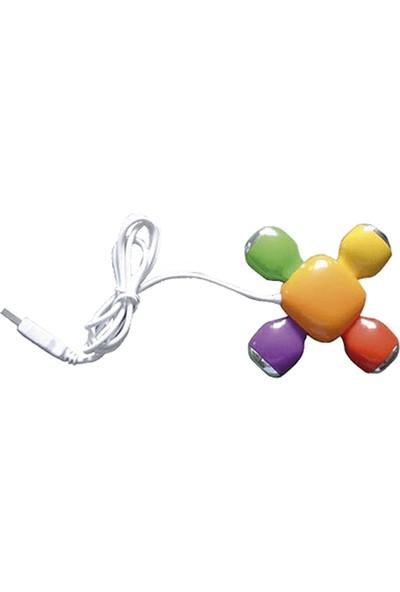 Vestel Usb Rainbow 01 4 Portlu Usb 2.0 Hub (Usb Çoklayıcı)