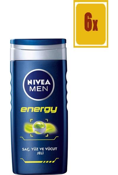 Nivea Energy Duş Jeli Erkek 250 Ml 6'lı Set