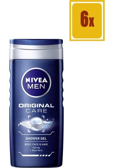 Nivea Protect & Care Duş Jeli Erkek 250Ml 6'lı Set