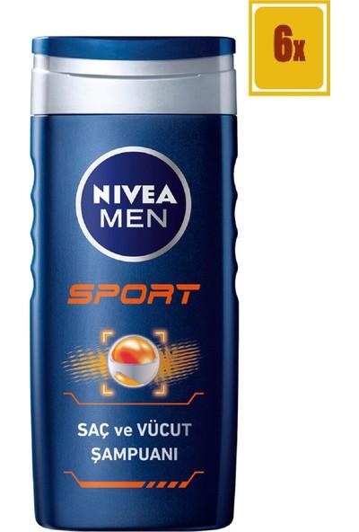 Nivea Sport Duş Jeli Erkek 250 Ml 6'lı Set