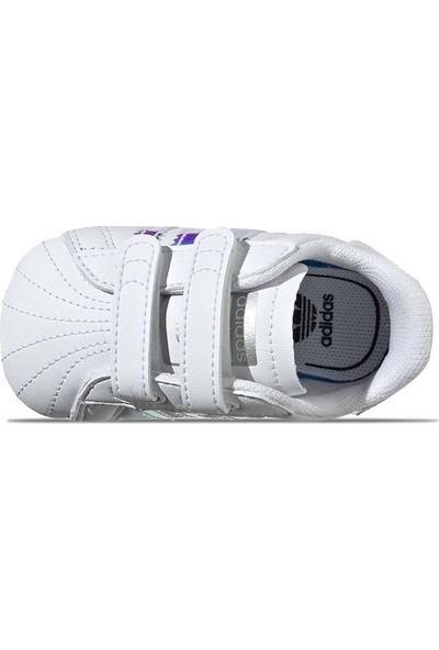 Adidas Bebek Günlük Ayakkabı Spor Beyaz Bd8000 Superstar Crib