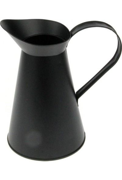 Tuğra Hediye İtalyan Siyah Metal Vazo