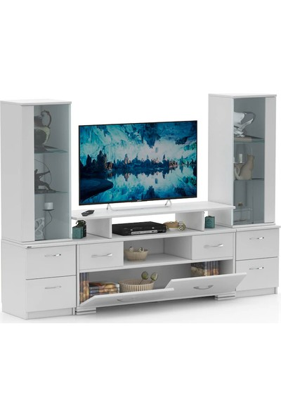 Abre Beyaz TV Ünitesi LCD Sehpası VM 4244042