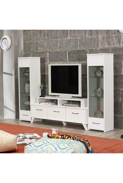 Abre Beyaz TV Ünitesi LCD Sehpası VM 441451