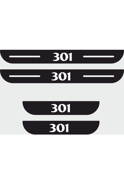 Appcity Peugeot 301 Plastik Kapı Eşiği