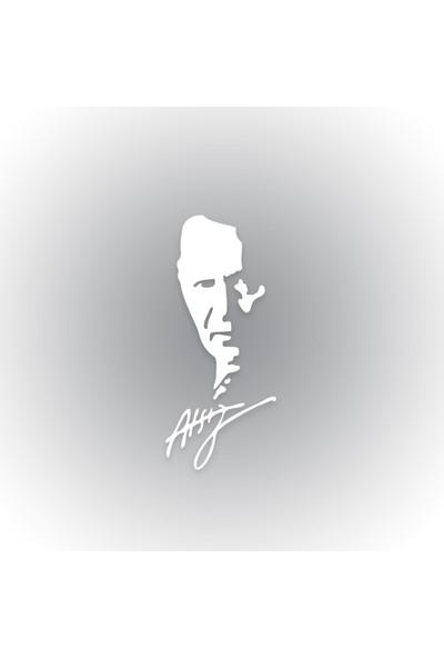 Otografik - H. Nihal Atsız Silüeti Oto Sticker 10 cm x 23 cm