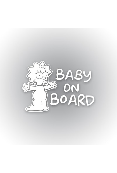 Otografik - Baby On Board Maggıe Sımpson Oto Sticker 15 cm x 11 cm