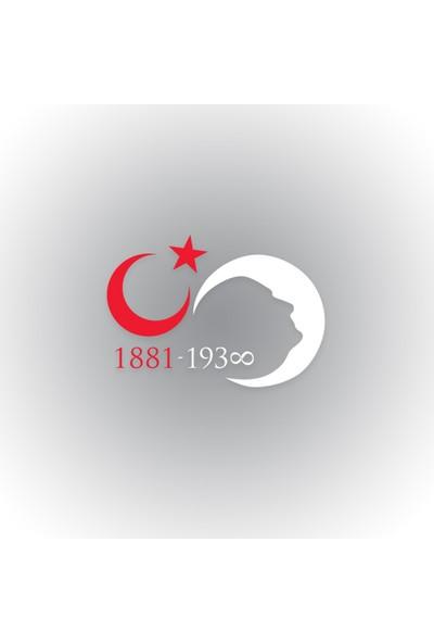 Otografik - Atatürk Sonsuz Ay Yıldız Silüet Oto Sticker 30 cm x 21 cm