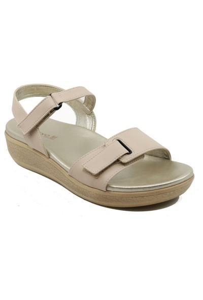 Ceyo 9905-7 3 Renk Dolgu Topuk Kadın Sandalet
