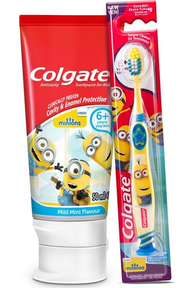 Colgate Minions Çocuk Diş Macunu 50 ml + Diş Fırçası 6+ Yaş