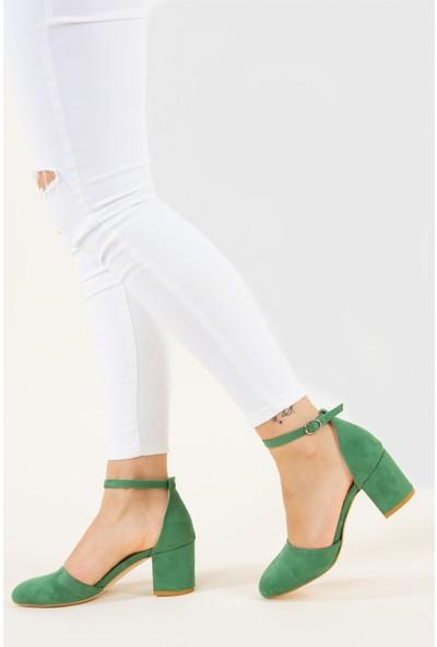Fox Shoes Yeşil Kadın Topuklu Ayakkabı D422008202