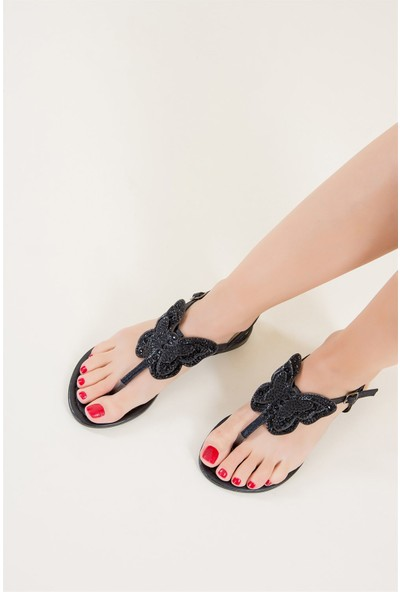 Fox Shoes Siyah Kadın Sandalet F713060214