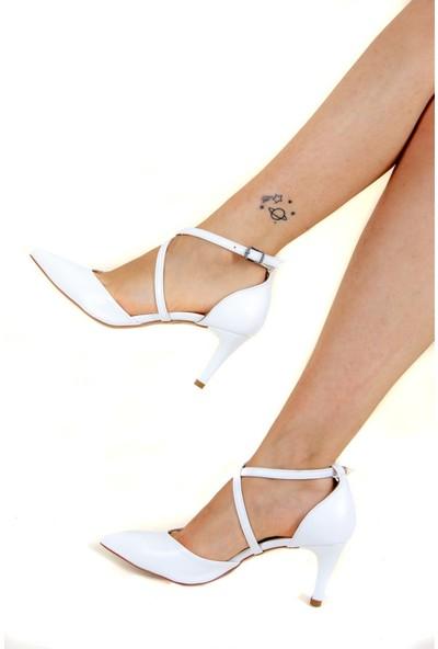 Fox Shoes Beyaz Kadın Topuklu Ayakkabı D654054809