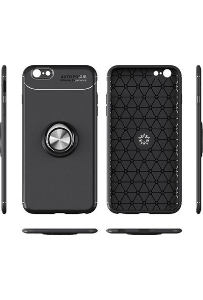 Casestore Samsung Galaxy S10E Araç İçi Manyetik Mıknatıslı Yüzüklü Silikon Kılıf