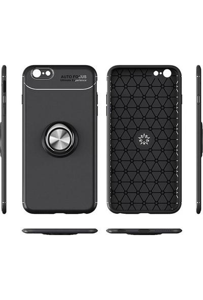 Casestore Xiaomi Mi 8 Lite Kılıf Ultra Lüx Araç İçi Mıknatıslı Yüzüklü Kılıf + Nano Ekran Koruyucu