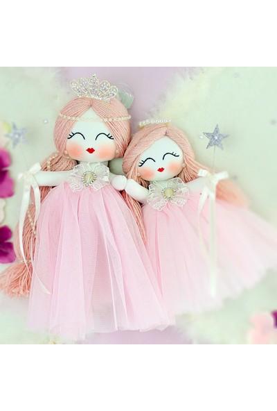 Renkli Hayallerim Menekşe 2li Melek Kız Kardeş Bebek Kapı Süsü