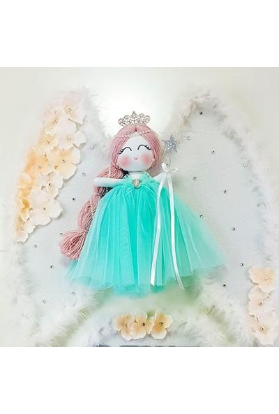 Renkli Hayallerim Lale Melek Kanatlı Kız Bebek Kapı Süsü