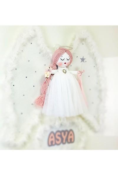 Renkli Hayallerim Karanfil Melek Kanatlı Kız Bebek Duvar Süsü