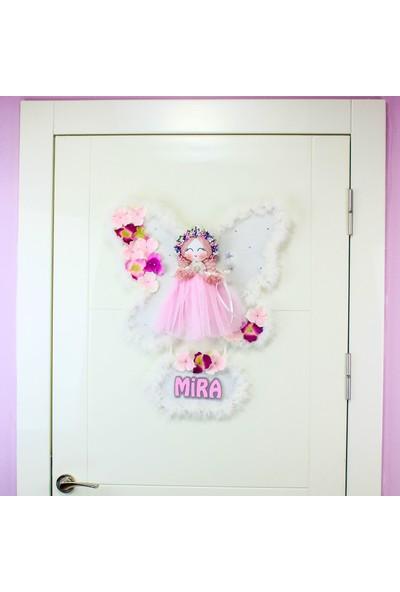 Renkli Hayallerim Zambak Melek Kız Bebek Kapı Süsü