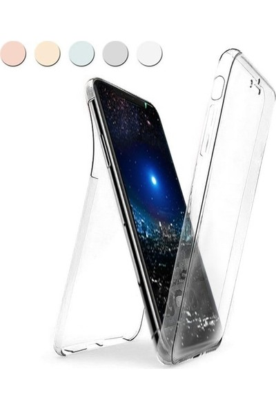 Casestore Apple iPhone 6 Plus & 6S Plus Ön Arka 360 Tam Korumalı Şeffaf Silikon Kılıf