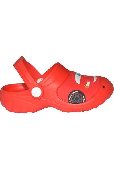Disney Cars Arabalar Erkek Çocuk Kırmızı Terlik Sandalet
