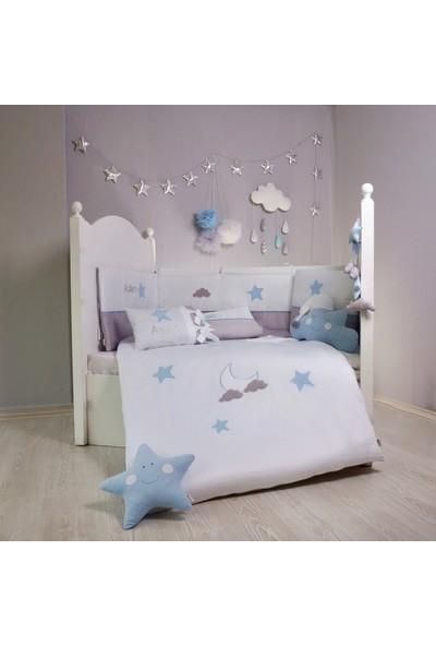 Pudra Decor Gri Yıldızlar Bebek Uyku Seti