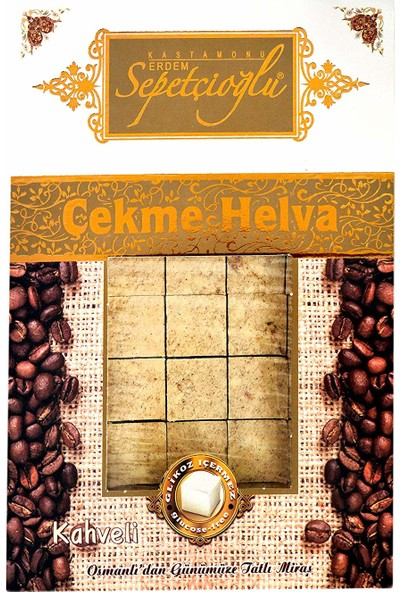 Sepetçioğlu Kahveli Küçük Dilim Çekme Helva (Vakumlu) 280 gr