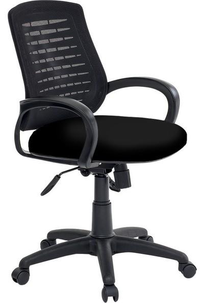 Asbir Poli 52100 Çalışma Koltuğu Ofis Koltuğu Çalışma Sandalyesi - Siyah