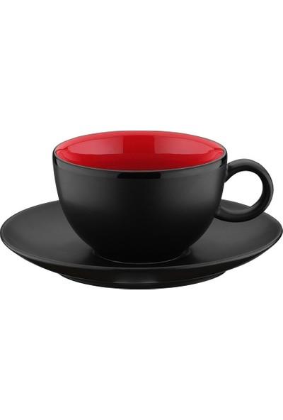 Kütahya Porselen Zeugma Çay Bardağı ve Tabağı