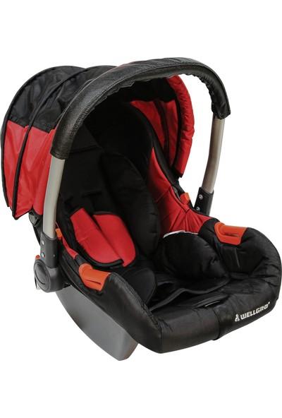 Wellgro Ana Kucağı Taşınabilir Bebek Koltuğu Kırmızı Siyah