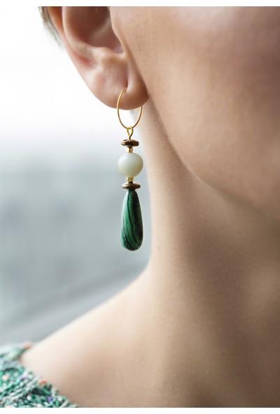 Amulette Jewel Yeşil Damla Formlu Küpe