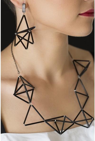 Amulette Jewel 3D Baget Taşlı Küpe