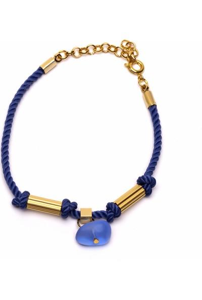 Amulette Jewel Mavi Cam Objeli Bileklik
