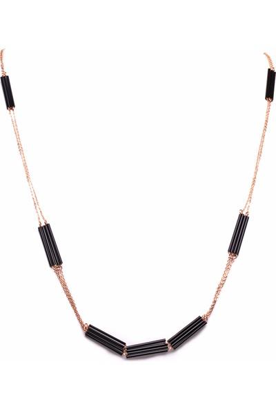 Amulette Jewel Siyah Rose Kolye