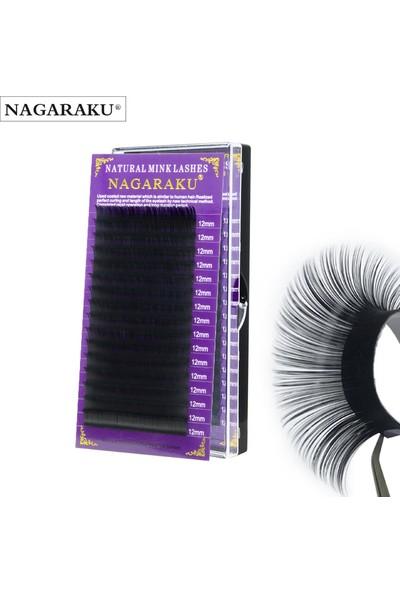 Nagaraku Premium Lashes 9 mm 0,07 D Kıvrım İpek Kirpik