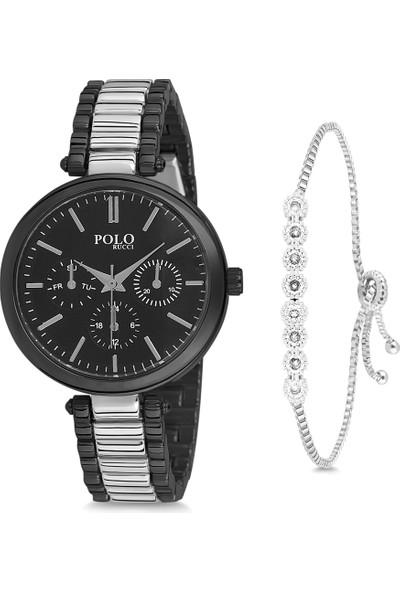Polo Rucci PL-1040B4 Kadın Kol Saati Seti