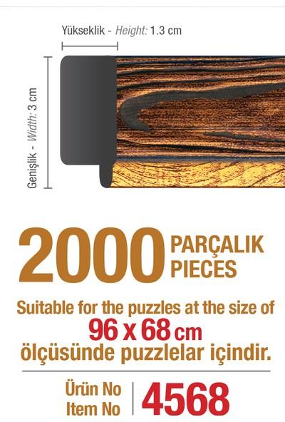 Art Puzzle Çerçevesi 2000'lik Kahverengi Çerçeve
