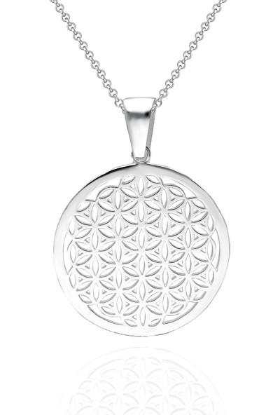 İpek Silver Ib250 Gümüş Yaşam Çiçeği Kolye