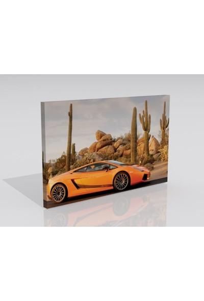 Moda Duvar Araba Temalı Kanvas Tablo 30 x 60 cm