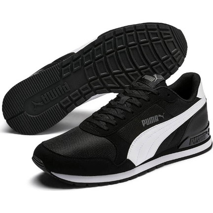 01c4c122 Puma St Runner V2 Mesh Siyah Kadın Sneaker Ayakkabı