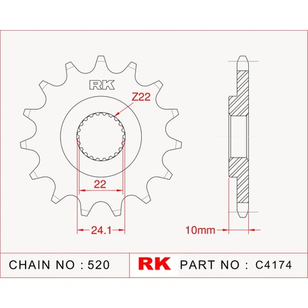 Rk Bmw F 650 Gs Dakar Rk çelik ön Dişli C4174 16 Fiyatı