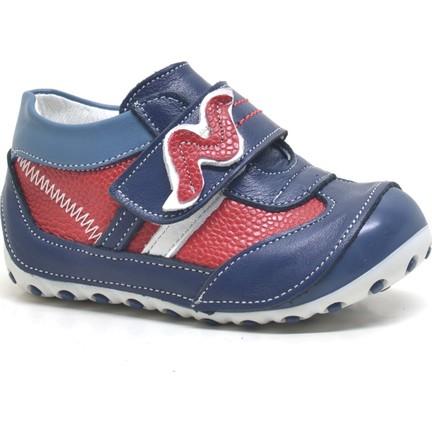 9916fd3827d66 One Sweety Baby Lacivert Hakiki Deri Ortopedik Mevsimlik Erkek Bebek  Ayakkabı
