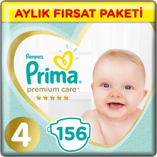 Prima Bebek Bezi Premium Care 4 Beden 156 Adet Maxi Aylık Fırsat Paketi