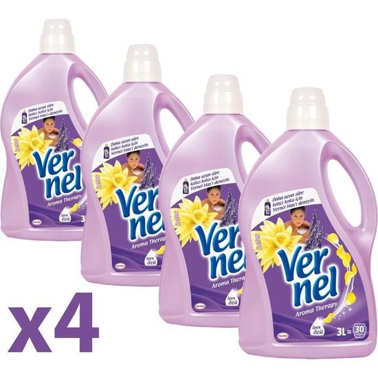 Vernel Yumuşatıcı Aroma Relax 3lt 4'lü Set
