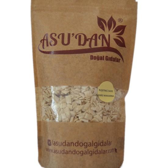 Asudan Doğal Gıdalar Tam Buğday Unlu Kare Makarna 300gr